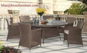 Patio Furniture Rattan Dining Set