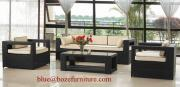 Patio Furniture Wicker Sofa Set
