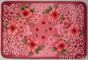 100% Acrylic Printed Rug, W/Latex Back or PVC Dots Back
