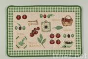 Cotton Printed Rug, W/Latex Back or PVC Dots Back