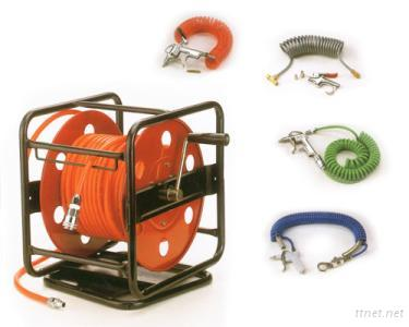 Air Hose Reel and Gun