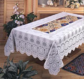 100% Polyester Knitting Jacquard Paper Printed Table Cloth