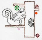 Iron On Aluminum Sequins Motif-Squirrel