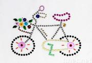 Iron On Aluminum Sequins Motif - Bicycle