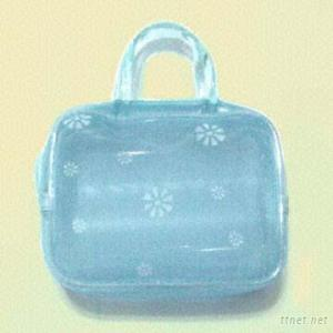Handy Cosmetic Bag with Dainty Floral Prints