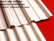 White Mud Weather Resistant Reinforced Plastic Corrugated Sheet