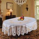 Vinyl Crochet Tablecloth With Gold