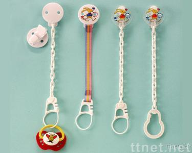 Soother chain plastic pin-clip