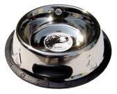 Dog Embossed Non-skid Bowl-shape with Figer Lifting Solt
