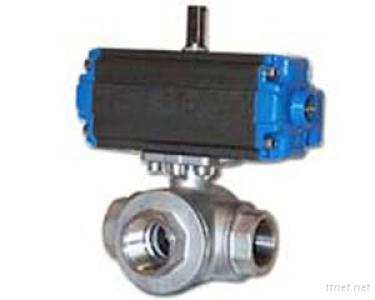 3-way Ball Valve With ISO Direct Mounting Pad