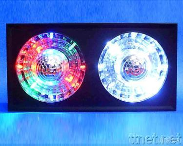 Twin Rotating Mirror Ball LED Lamp-color & White LED