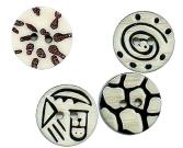 Laser Carved Poly Buttons