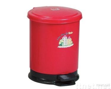 Round Foot-operated Trash Bin (W/Container)