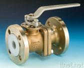PFA Lined 2-way Ball Valve
