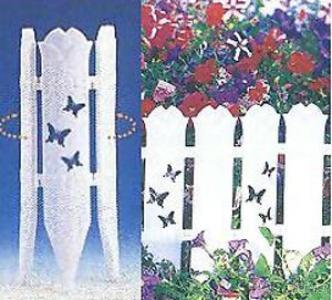 Butterfly and Bamboo Garden Edging Fence