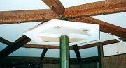 Technical Wood Fencing Roof at Cafe-shop