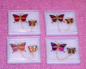 Metal Laser Brooches
