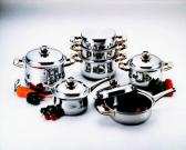 All Star 11Pcs 7Ply Stainless Steel Cookware Set