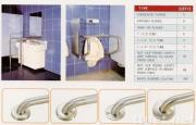 Stainless steel grab bars