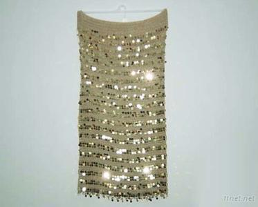 Handknit Beaded Skirt