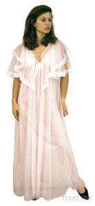 Neglige Set Nightgown and Robe