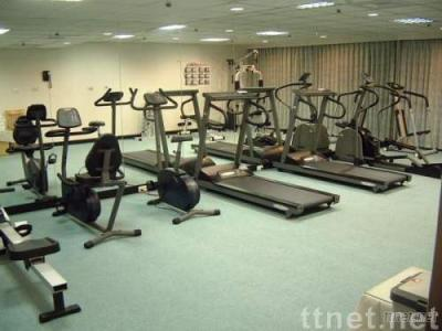 Fitness Room with free massage chairs & fruits