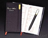 Pocket Diary with Bookmark Ball Pen