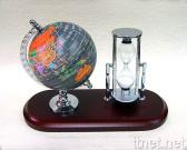 Globe/Sand Clock Desk Set