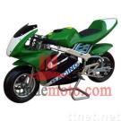 Gas-Powered Pocket Bike with 47CC Gasoline Engine WZPB4703G