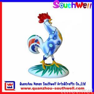 polyresin rooster figurines