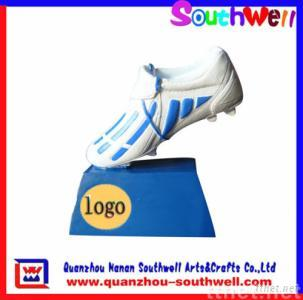polyresin soccer boot trophy