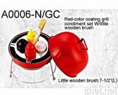 Grill Condiment Set in Red Color