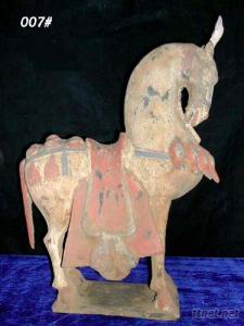 Chinese Antique Reproduction Earthenware Horse Figure