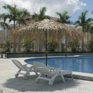 Tropical Real Palm Leaf Thatched Umbrella