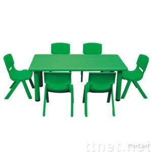 Plastic Children Table & Chair