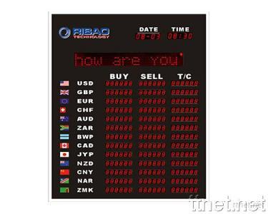 Electronic Exchange & Interest Rate Display Board