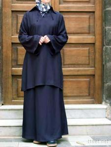 Gown/Pant/Head Cover in Muslim Style