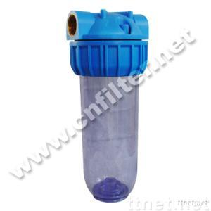 Plastic water filter housing, silm and big blue