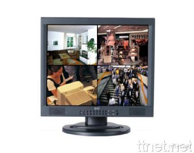 17 Inch TFT-LCD Color Quad Monitor with DVR Combo