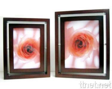 360 Degree Dual Face Wooden Photo Frame