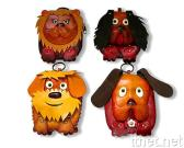 Animal Coin Purses with Cow Leather Carve & Painting