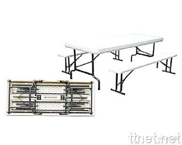 Blow Mold Folding Table and Chair Set