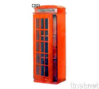 Wooden CD Rack (British Phone Booth Cabinet)