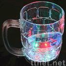 Light up beer glass