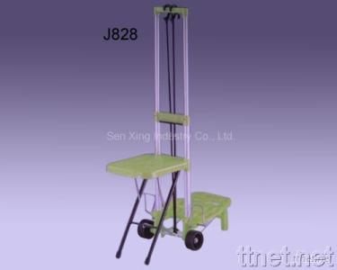 Luggage Cart with Chair