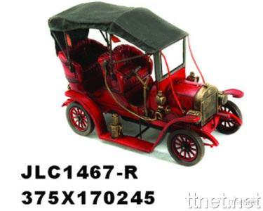 Antique Reproduction Classic Car Model - Red Ford