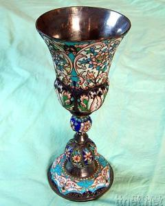 A Russian Silver - Gilt and Enamel Goblet