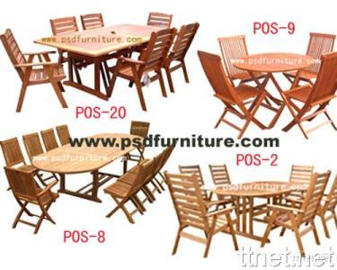 Outdoor Furniture Garden Dining Table,  Wooden Patio Chair