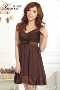 Solid Color Strapped Chiffon Dress