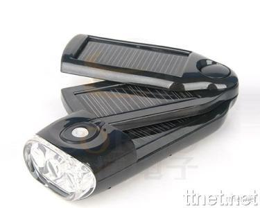 Solar Flashlight with Mobile Phone Charger for Camping